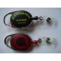 Buy cheap Carabiner badge reel, carabiner retractable reel, retractable badge reel product