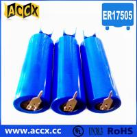 Wholesale 3.6v lithium battery ER17505 3500mAh with two pins from china suppliers