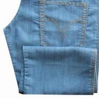 Buy cheap Tencel/Poly Ring Slub Denim with 58/60-inch Width from wholesalers