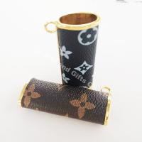 Buy cheap New Arrival Portable Leather Lighter Case Handmade Lighter Cover leather with print logo lighter cover from wholesalers