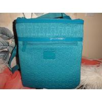 Wholesale Turquoise Mono Embossed Neoprene Shopping Bag , Portable Neoprene Shoulder Corssbody Tote from china suppliers