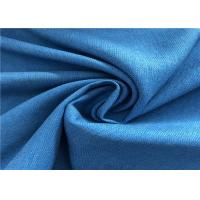 China Blue Twill Fade Resistant Outdoor Fabric Good Color Fastness Breathable For Winter Coat on sale