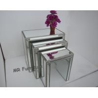 Buy cheap Interior Mirrored Glass Side Table , Living Room Silver Mirror Side Table from wholesalers