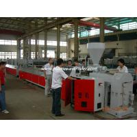 Buy cheap Electric Cable Trunking Plastic Profile Extruder / PVC Electrical Conduit Pipe Making Machine from wholesalers