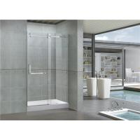 Buy cheap 8MM Self - Cleaning Frameless Shower Enclosures Tempered Glass Sliding CE / SGCC Certification from wholesalers