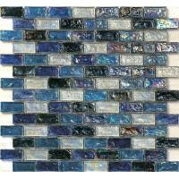 Quality Black series waving glass mosaic tile for floors and walls boarder for sale