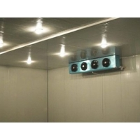 Buy cheap 2.0mm Checker Plate Cold Storage Chiller Recessed curved corner meat cold room from wholesalers