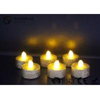 Indoor / Outdoor Led Tea Light Candles With Dusted  Long Operating Life set of 6