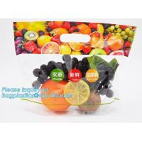 Buy cheap slider zip lock packaging fruit bag for cheery and grape, Vegetable refrigerate used resealable ziplock packaging bag from wholesalers