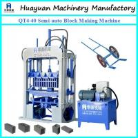 Buy cheap FOR small factory to do business of concrete block machine ! QT4-40 Semi-auto concrete block making machine for sale from wholesalers