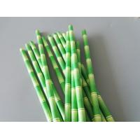 Buy cheap Bamboo Printed Eco Compostable Jumbo Paper Straws , Paper Smoothie Straws from wholesalers