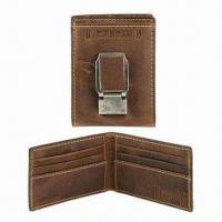 Wholesale Money Clip with Delicate Logos in Different Shapes, Made of Leather, Customized Designs Welcomed from china suppliers