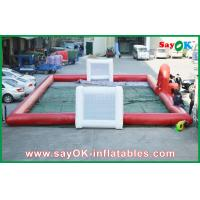 Buy cheap 10m Big Inflatable Red Football Field WIth Gate Use Strong PVC Material from wholesalers