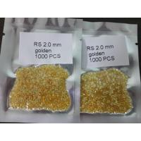 China AA quality golden color lab created CZ gems on sale