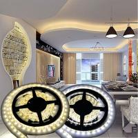 12V Non-waterproof 5050 LED Strip Light for Home Decoration 5M 300 LEDs Warm/Cool White Manufactures
