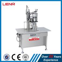 China Semi automatic Paint, Pesticide, Air freshener, Snow, PU Foam 3 in 1 Aerosol Spray Can Filling and Sealing Machine on sale