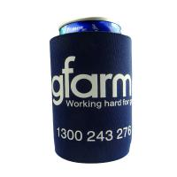 Quality 4mm Black Stubby Neoprene Can Cooler With Base , One Color Printing for sale