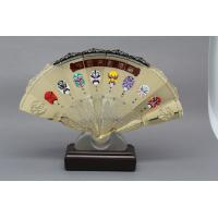 Buy cheap Customised Metal Gold Silver Metal Folding Hand Fan  Prize Chinese Traditonal Souvenir Support from wholesalers