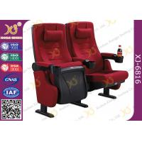 Buy cheap PP Outer Back Fabric Black Plastic Shell Cushion Theater Chairs For Stadium from wholesalers