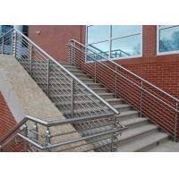 Buy cheap Low Hardness Stainless Steel Pipe Railing , Steel Pipe Handrail For Bridge / Road / Factory from wholesalers