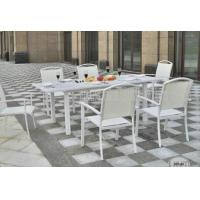 Buy cheap Aluminium Outdoor Patio Furniture 7 Piece Table And Chairs For Dining / Seating from wholesalers