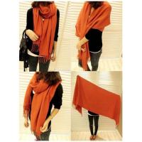 Buy cheap Women's Men Lady Large Warmer Long Cape Cashmere Wool Shawl Wrap scarf Scaf from wholesalers