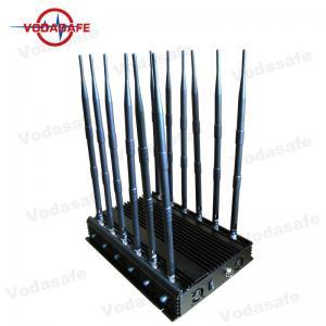 12 RF Antennas Mobile Phone Signal Jammer 10 - 50m Effective Cover Radius