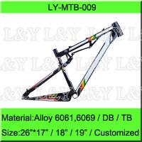 Buy cheap 26 Full Suspension Alloy Mountain Bike Frame from wholesalers