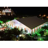 Buy cheap White Outdoor Luxury Wedding Tents Aluminum With Air Conditioner from wholesalers