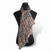 Buy cheap Jacquard Women's Scarf, Measures 178 x 68 and 3 x 4cm, Weighs 175 to 220g product