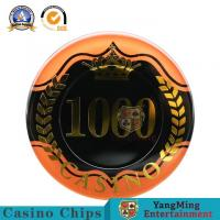 Buy cheap Two - Tone Sticker UV RFID Casino Chips High Transmittance Acrylic Material 14g product