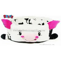 China Wholesale Price Plush Stuffed Cow Shape Pet Bed for Puppy Cat Dog on sale