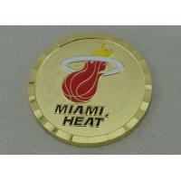Wholesale Hard Enamel Personalized Coins By Brass Stamped With Diamond Cut Edge from china suppliers