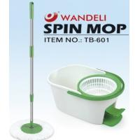 Buy cheap One Touch Steam Tornado Floor spin mop With 7.6L Bucket , Whit pedal from wholesalers