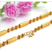 China Drjobson jewelry mens 18k gold stainless steel necklace popular in usa,uk-N05 on sale