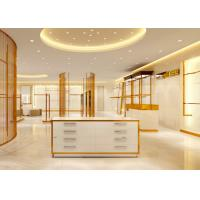 Buy cheap Luxury Stainless Steel Store Display Fixtures For Women Clothing Shop from wholesalers