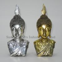 Buy cheap Golden electroplated buddha head statue from wholesalers