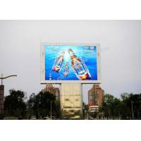 Buy cheap Wall Mounted Square Outside P10 LED Display Screen With 140° View Angle from wholesalers