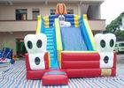 Buy cheap Blue Cat Outdoor PVC Tarpaulin Dry Slide Inflatable Garden Dry Slides For Parties from wholesalers