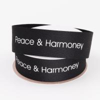 Buy cheap Screen Printed Cotton Grosgrain Ribbon Customized Size For Decoration from wholesalers
