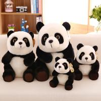 Genuine Plush Black Panda Stuffed Animal Toys 20cm / 30cm / 45cm Manufactures