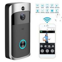 Buy cheap HD Wifi Enabled Wireless Doorbell Camera , Battery Operated Smart Camera Security from wholesalers