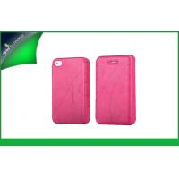 Buy cheap Chic Hot Pink Folio Design Apple Iphone 4s Leather Cases ,  Waterproof Iphone 4 Case from wholesalers