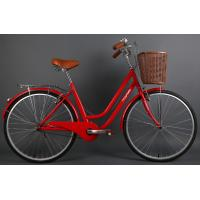 Wholesale Cheap steel colorful 26 OL city bicicle for lady  with Shimano 7 speed with pvc basket from china suppliers