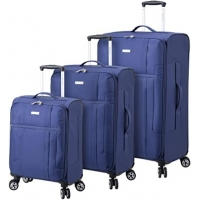 Wholesale Lightweight Luggage Set With Spinner Goodyear Wheels - Set of 3 Pieces - Soft Case from china suppliers