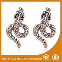 Wholesale Simple Design Alloy Gold Rhinestone Earrings Metals Antique Earrings from china suppliers