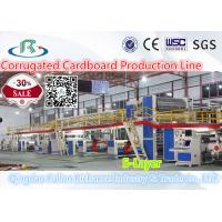 Buy cheap WJ-150m/min-1800mm 5 Layer Corrugated Paperboard Production Line from wholesalers