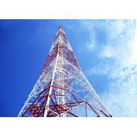 Buy cheap Telecom 40 Meter Wireless Cell Tower , 4 Angle Steel Iron Self Supporting Lattice Tower from wholesalers