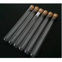 Buy cheap Clear test tube with cork top from wholesalers