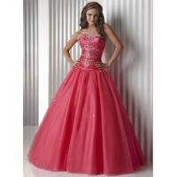Buy cheap Gorgeous Watermelon Quinceanera Party Dresses Strapless And Organza from wholesalers